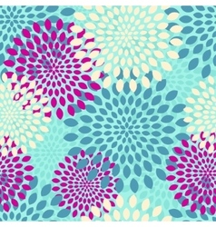 modern seamless flowers pattern background vector image