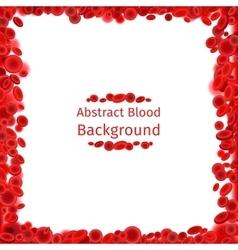 Blood cells frame for medical poster vector image