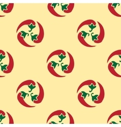 Classic red chili peppers seamless pattern vector image vector image