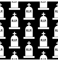 Grave icon seamless pattern vector image