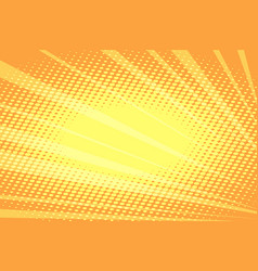 orange rays abstract background vector image vector image