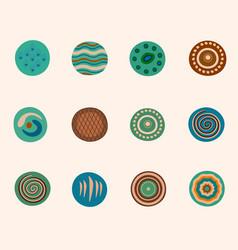 set of decor elements vector image