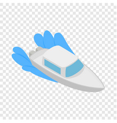 boat on waves isometric icon vector image vector image