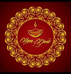 Creative Diwali greeting vector image