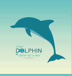 dolphin icon design element vector image