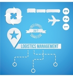 Logistic concept Set of icon and sympols for vector image