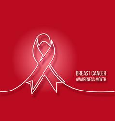 Logo design of breast cancer charity badge ribbon vector