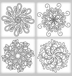 oriental mandalas vector image vector image