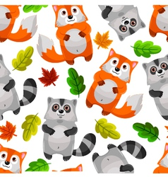 racoons and foxes vector image vector image