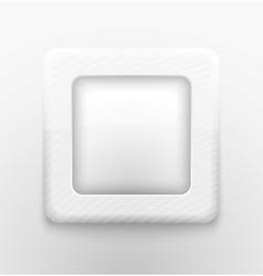Square white button vector image