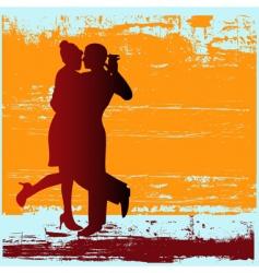tango grunge vector image