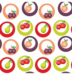 A seamless design with fruits vector image