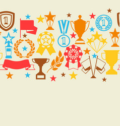awards and trophy seamless pattern vector image