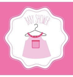 Baby shower celebration vector