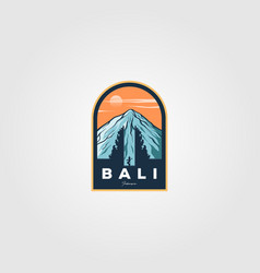 Bali province indonesian logo vintage culture vector