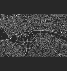 black and white city map london vector image