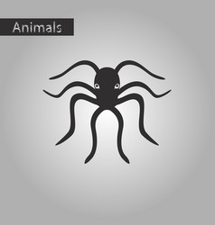 Black and white style icon of octopus vector