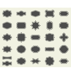 Blank empty dark frames and borders set collection vector