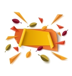 Blank yellow and abstract orange autumn banner vector