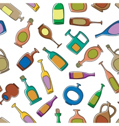 bottles pattern vector image