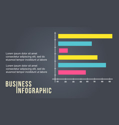 Business infographic with graph style vector