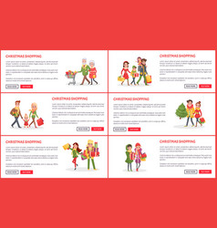 Christmas holiday shopping web pages with text vector