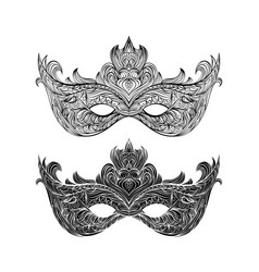collection of elegant carnival mask vector image