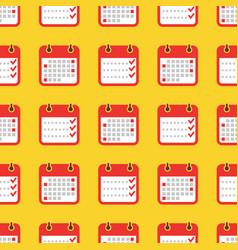 Colorful geometric seamless pattern - calendar vector