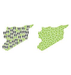 Demographics and plantation syria map vector