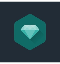 Diamond cuts flat icon vector image