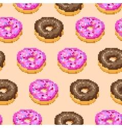 Donuts Pixel Pattern vector