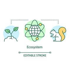 Ecosystem concept icon biodiversity conservation vector