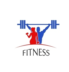 Fitness Center logo vector image