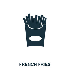 french fries icon mobile apps printing and more vector image