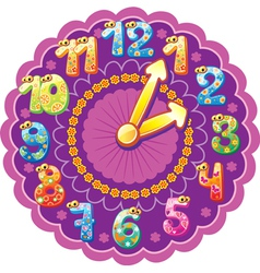 Funny clock for kids vector
