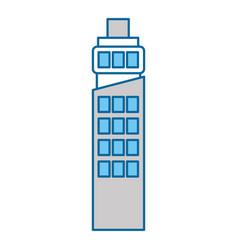futuristic building isolated icon vector image