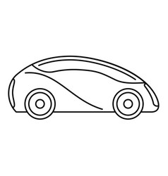 Futuristic driverless car icon outline style vector
