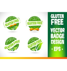 Gluten free Badge Logo vector image