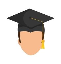 Graduation cap and boy icon University design vector