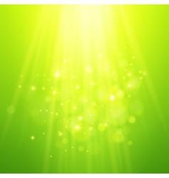 green rays light bokeh blurred vector image