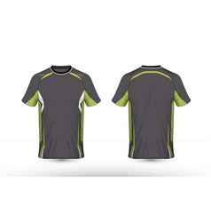 grey green and white layout e-sport t-shirt vector image