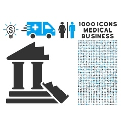 Historic Ruins Icon with 1000 Medical Business vector image