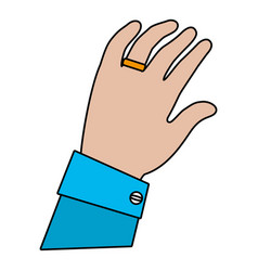 human hand cartoon vector image