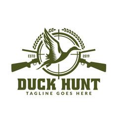 Hunting logo hunt badge or emblem for hunting vector