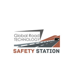 Icon for road construction technology vector