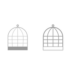 Iron cage it is black icon vector