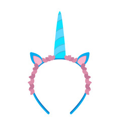Isolated unicorn headband icon vector