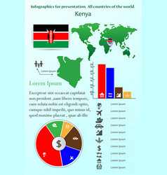 kenya infographics for presentation all vector image