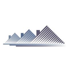 Logo cottage settlement vector