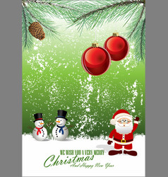 merry christmas background 4 vector image